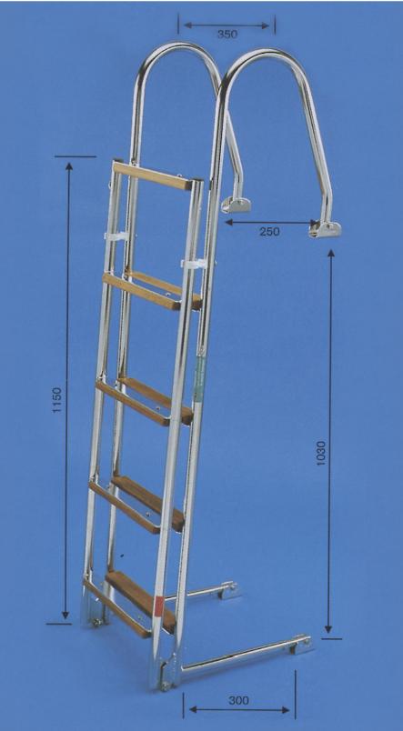 Prasolux Adria 9-Stufen Badeleiter