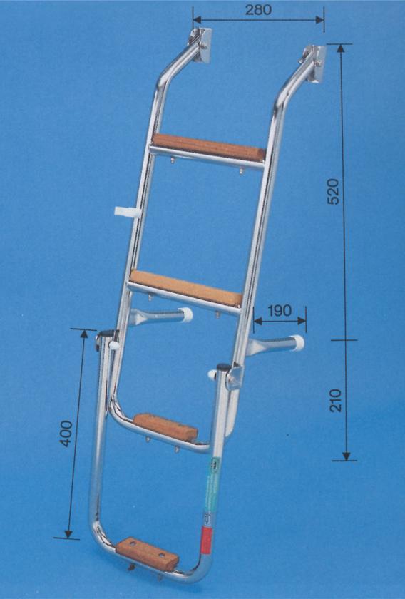 Prasolux Rhone B 4-Stufen Badeleiter