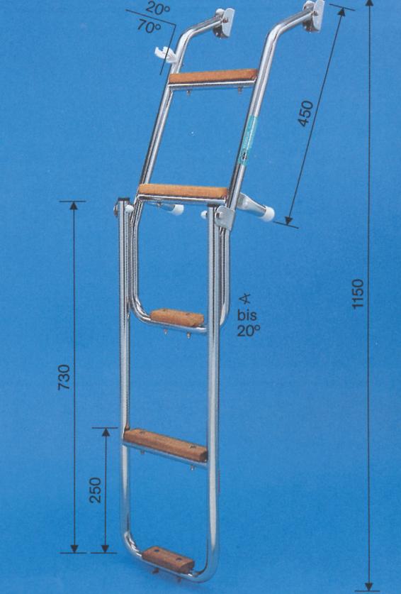 Prasolux Rhone E 5-Stufen Badeleiter