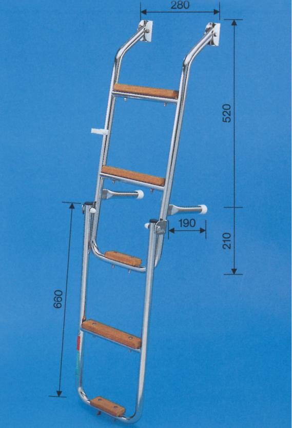 Prasolux Rhone C 5-Stufen Badeleiter