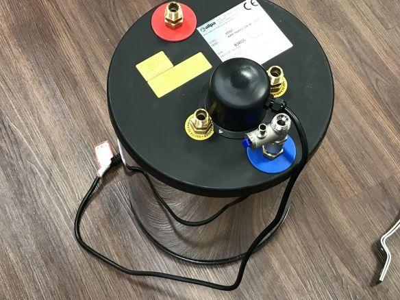 Allpa Heißwasserboiler 22 Liter Motorwärme/ und Heizspirale 230V ...