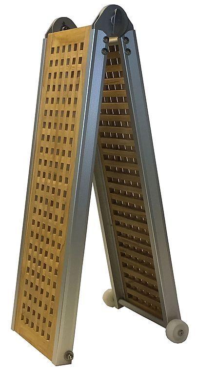 Ma-Sa Gangway Klappbar mit Teak Gräting Länge 202 cm.(ohne Handlauf)
