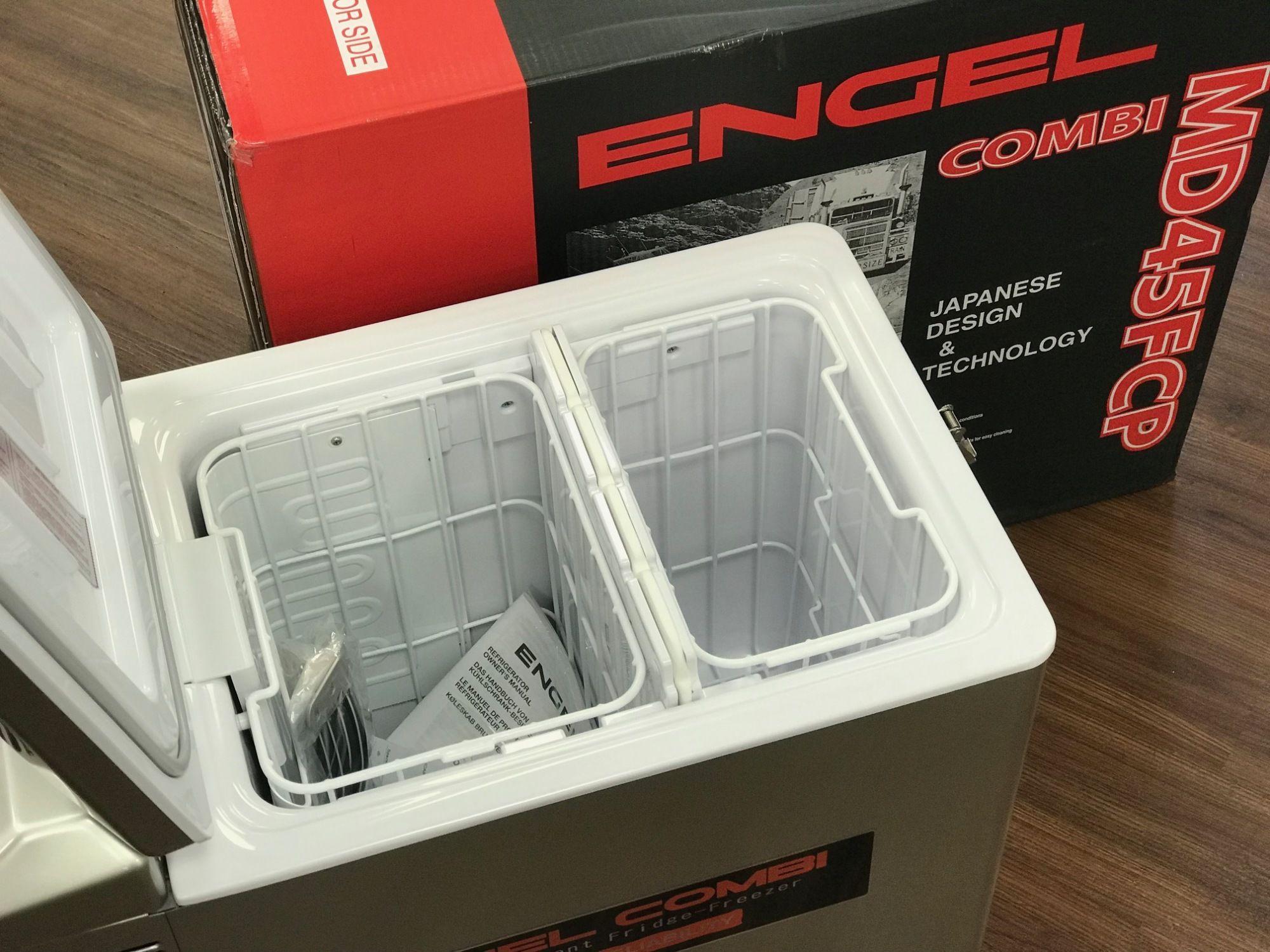 Engel MD MT 45 F CP Kühlbox mit Kühl und Gefrierfach inkl  Scharniersicherung Kompressor Kühlbox 40 Liter 15+25 für 889,99 EUR (Stand:  07 09 2019)