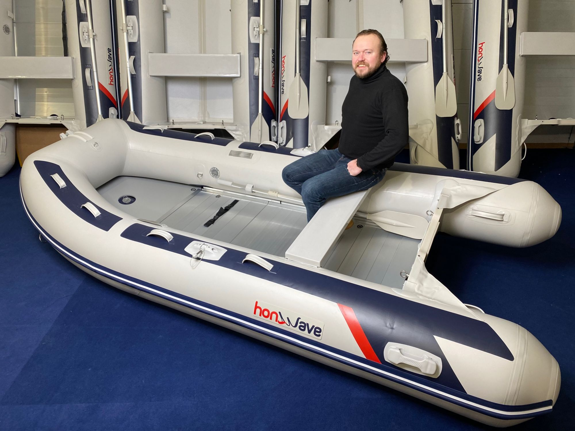 Honda Honwave T35 AE3 Schlauchboot Alu-Boden Mod.2021