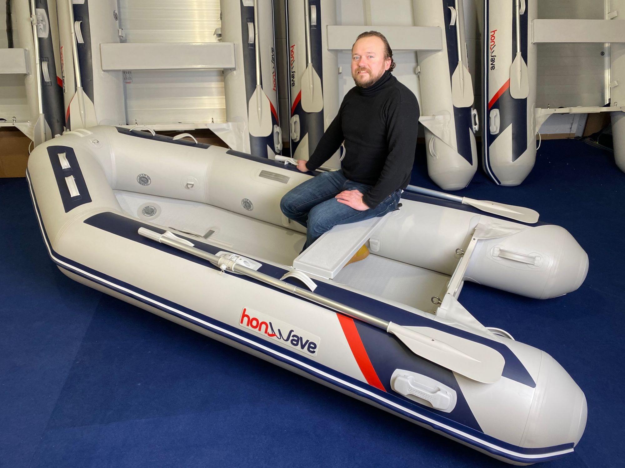Honda Honwave T32 IE3 Schlauchboot Hochdruck-Boden Mod.2021