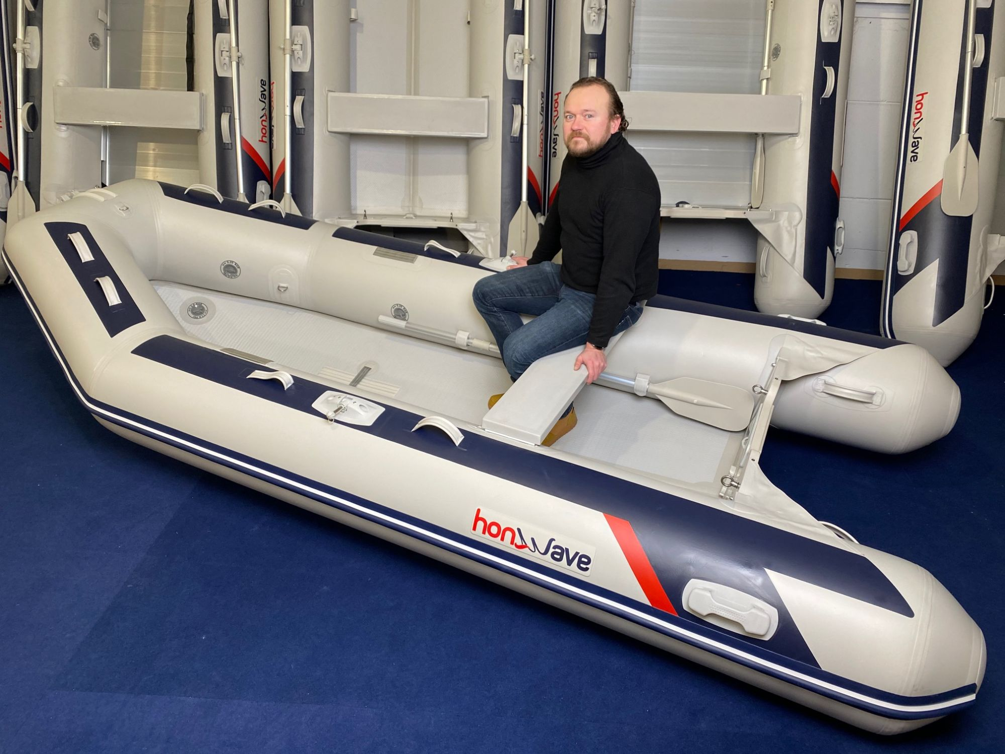 Honda Honwave T38 IE3 Schlauchboot Hochdruck-Boden Mod.2021