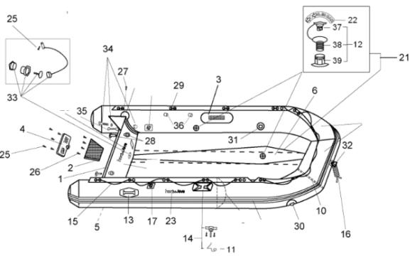 schlauchboote honda honwave ersatzteile aussenborder. Black Bedroom Furniture Sets. Home Design Ideas