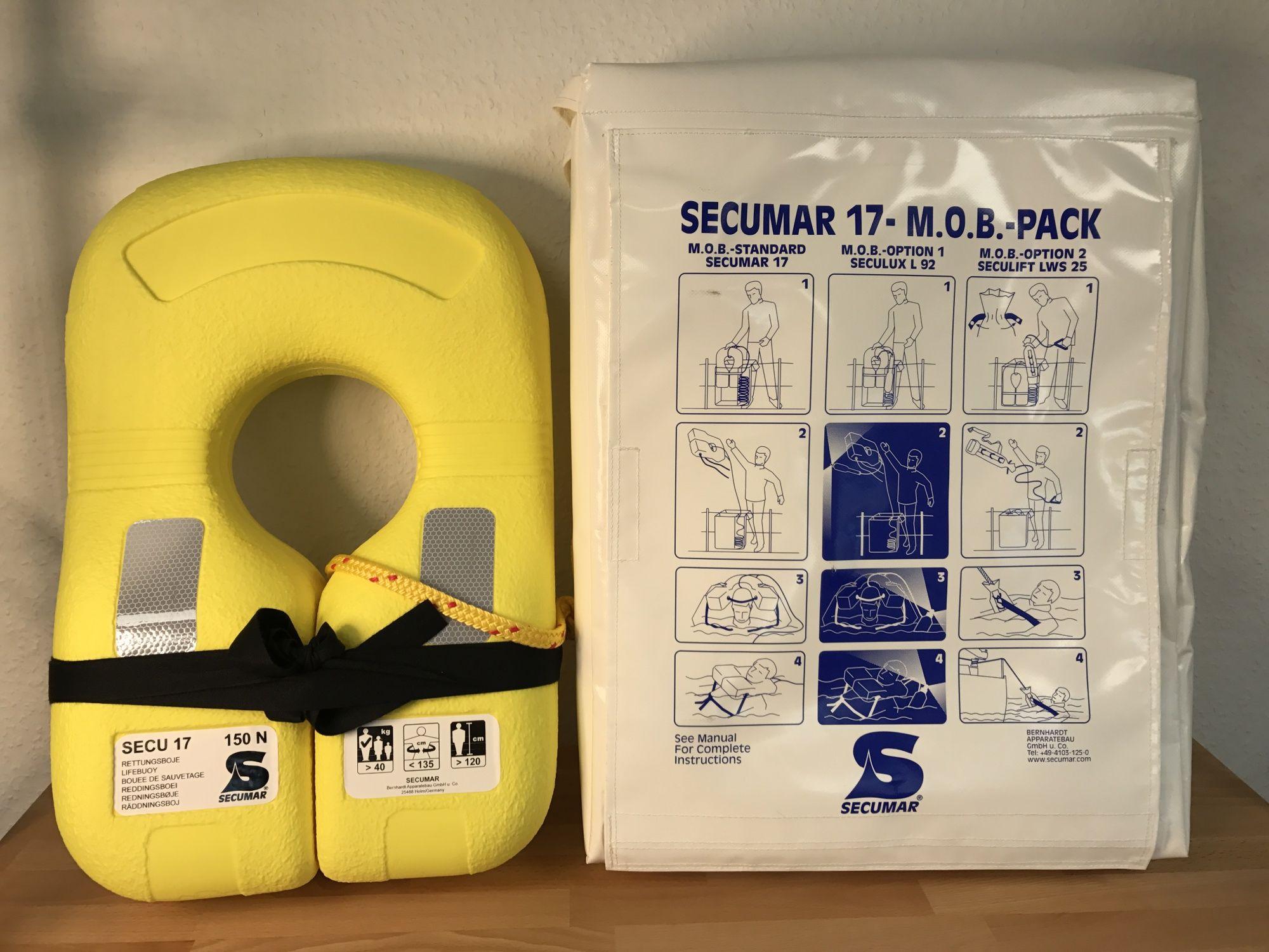 Secumar MOB Paket inkl. Secu 17 Rettungskragen