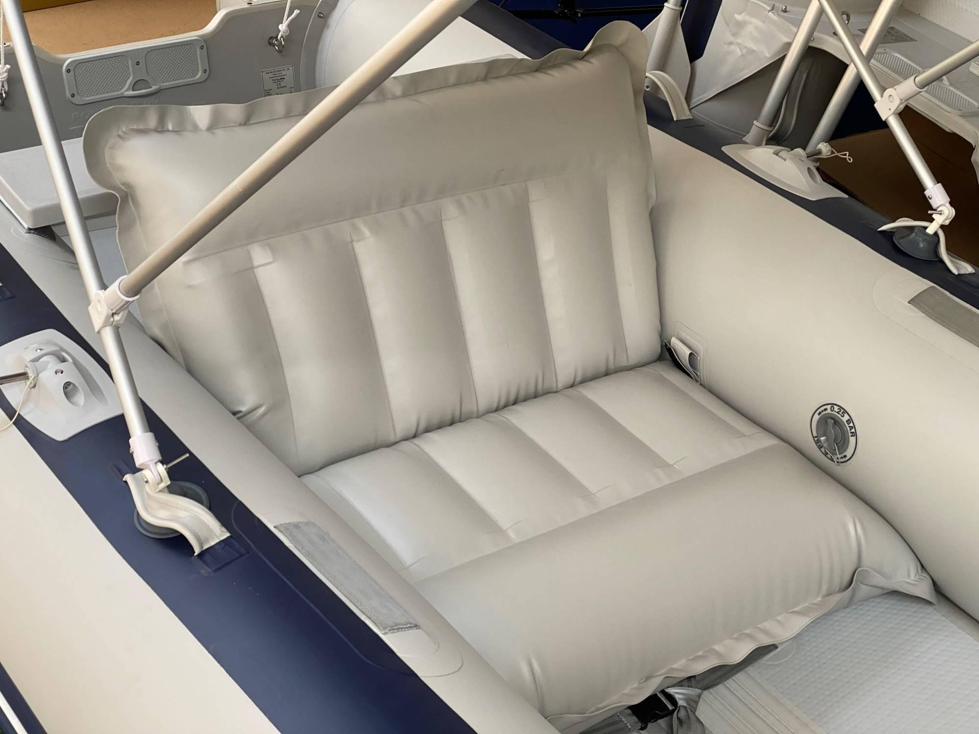 Allroundmarin Schlauchbootsitz Breite 86 cm.