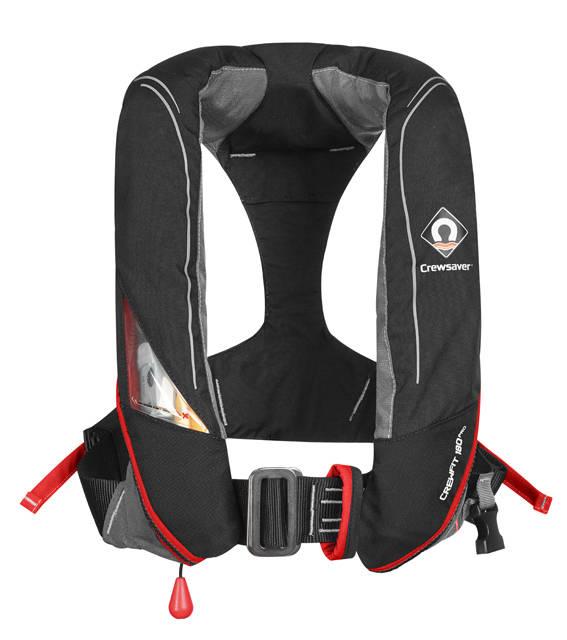Crewsaver CrewFit 180N PRO Harness (mit Lifebelt) schwarz/rot