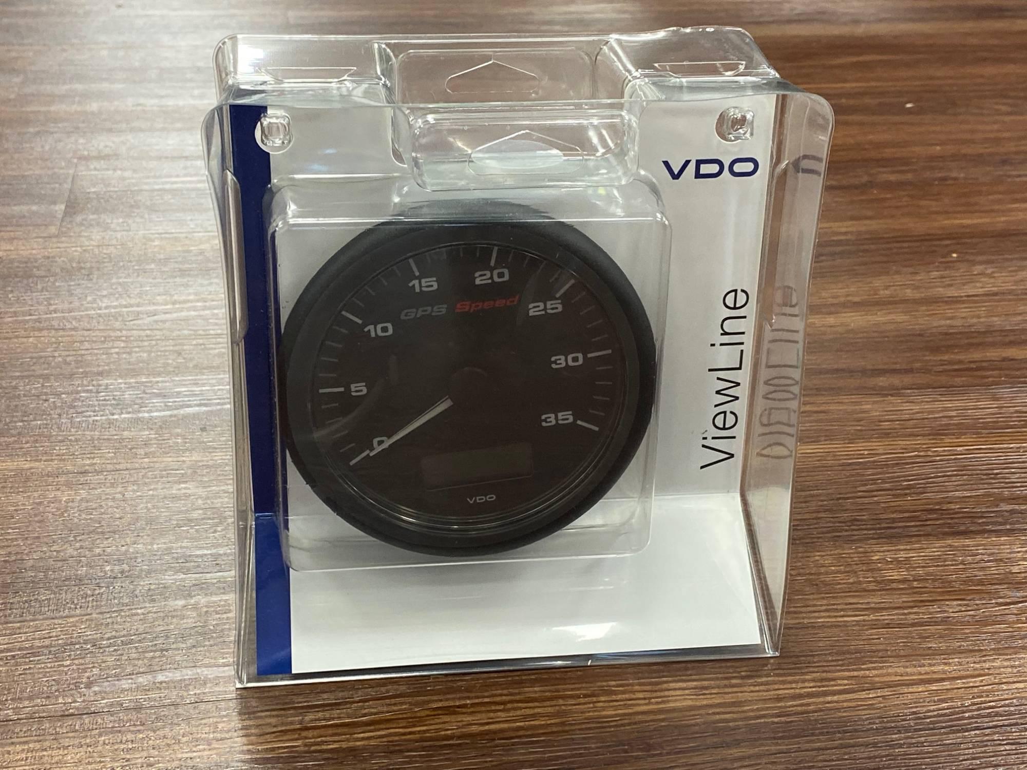 VDO GPS Speedometer Geschwindigkeitsanzeige bis 70 Knoten(Motorboote) 110 mm
